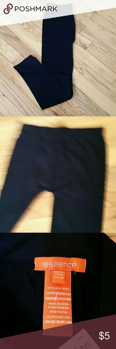 Resilience Dancer Tights NWT Black dancer tights, brand new with tags, never worn. Labeled one size fits all. When measured flat they are approximately 30 inches long and 12 inch waist. Resilience Pants Leggings