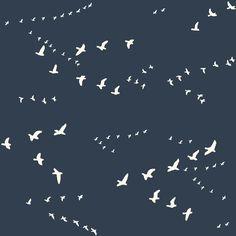Birch Organic Decor Canvas, The Grove by Jay-Cyn Designs, Flight Dusk