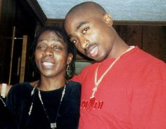 Tupac and his mother afeni