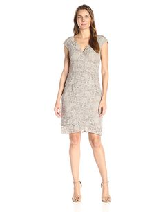 Jessica Howard Women's Lace Extended Shoulder Dress * Click image to review more details. (This is an affiliate link) #CocktailDress