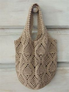 Diy Crafts - Thank you for stopping by!This listing is for a crocheted net bag. Filet Crochet, Crochet Pouch, Crochet Shell Stitch, Crochet Gifts, Knit Crochet, Crotchet Bags, Knitted Bags, Crochet Handbags, Crochet Purses