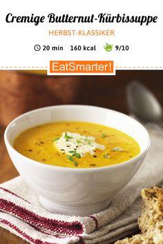Creamy Butternut Pumpkin Soup # Halloween Vegetables Low-Calorie Soup: Creamy But . Vegetable Soup Healthy, Healthy Soup, Healthy Recipes, Creamed Asparagus, Asparagus Recipe, Spinach, Butternut Squash Soup, Pumpkin Soup, Healthy Snack Foods