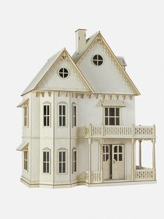 Gingerbread Victorian Dollhouse Kit by JourneyProductions on Etsy