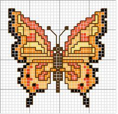 Farfalla punto croce