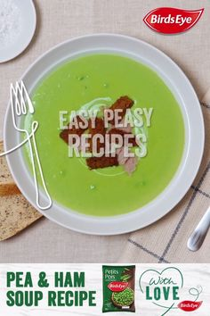 Your family will love our simple to prepare and delicious to eat Pea Soup. Serve with love and a sprinkling of croutons.  25 mins  • Serves 4, as a side • Click for the full Recipe & Ingredients.