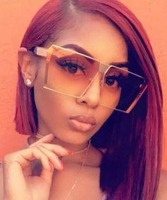 She's so square Square frames with orange tinted lens and gold trim. Also available in Blue tinted Lens Accessories Sunglasses Best Aviator Sunglasses, Aviator Glasses, Sunglasses Women, Piercing, Cool Glasses, Fashion Eye Glasses, Trending Sunglasses, Vintage Cameras, Sunglass Frames