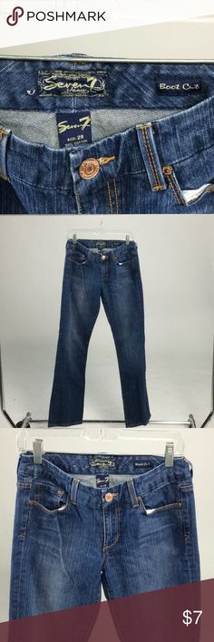 Seven 7 Boot Cut Jeans Waist 30 inches Inseam 32 1/2 inches , Bundle 3 or more items and Save 20% Seven7 Jeans Boot Cut