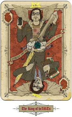 Self Portrait as Playing Card: King of heARTs by ~GraphicGeek on deviantART