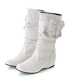 White Snow Bunny Boots