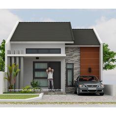 Small Modern House Exterior, Modern House Facades, Small Modern Home, Bungalow House Design, House Front Design, Small House Design, Minimalis House Design, 3d House Plans, Classic House Design