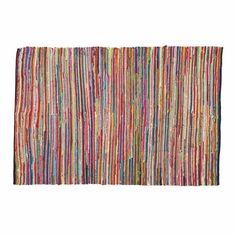 Flechtteppich ROULOTTE aus Baumwolle, 160 x 230cm, bunt