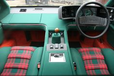 Image result for lotus esprit green red interior