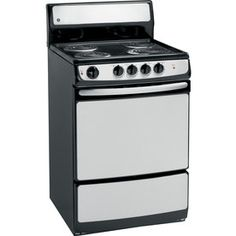 GE�Freestanding 3-cu ft Electric Range (Stainless Steel) (Common: 24-in; Actual 24-in)