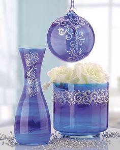 Décoration de verres avec la peinture sur verre