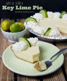 Ultra Silky Key Lime Pie Recipe. The very best!!