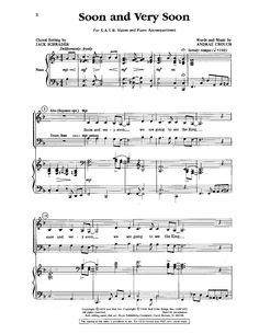 Soon and Very Soon (SATB) by Andrae Crouch Choral Sheet Music, Singing