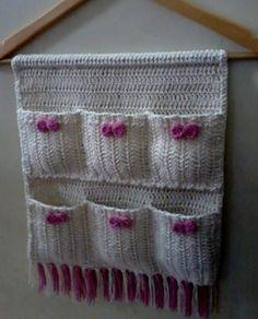 Crochet Organizer, Crochet Storage, Crochet Decoration, Crochet Home Decor, Crochet Flower Patterns, Knitting Patterns, Crochet Ideas, Crochet Gifts, Knit Crochet