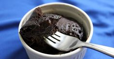 Single-serving microwave brownie -- This is what I've been looking for. a Fast, single-serving, NO leftovers (because I might be tempted), grain-free brownie. It's what's for Dessert! Low Carb Sweets, Low Carb Desserts, Low Carb Recipes, Cooking Recipes, Healthier Desserts, Cooking Tips, Gluten Free Chocolate, Chocolate Recipes, Chocolate Cakes