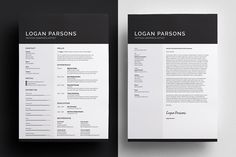 resumecv cover letter template logan by bilmaw creative on creative market