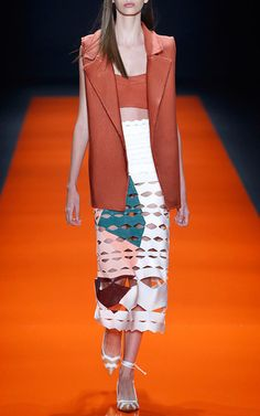 Painted Zig Skirt by LOLITTA for Preorder on Moda Operandi