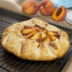 Peach Gallette {Sweet Pea's KItchen}