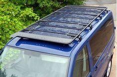 Picture of VW T5 SWB Black Powder Coated Steel Roof Rack Heavy Duty
