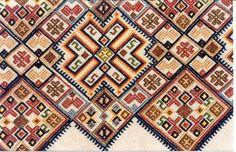 [...] το βιβλίο της Ευαγγελίας Κ. Φραγκάκη Από την κεντητική στην Κρήτη (σελ. 68) παρουσιάζει ξεχωριστό ενδιαφέρον. Cross Stitch Embroidery, Hand Embroidery, Greek Traditional Dress, Ancient Greek, Folk Art, Bohemian Rug, Weaving, Tapestry, Texture