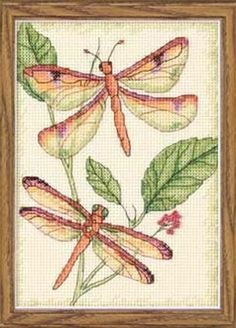 DRAGONFLY DUO - Counted Cross Stitch Kit