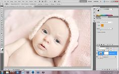 How to edit newborn pictures with Baby Clean Photoshop action. | Everyday Elements