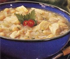 White Chicken Chili - had this for dinner last night!  Some of the best Chili we've every had!