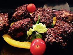 Ricetta Portata principale : Tonno fresco panato con salsa di soia e semi di lino da PentagrammiDiFarina