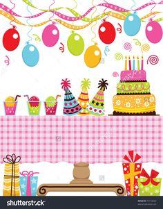 Birthday Party Stock Vector Illustration 75133663 : Shutterstock