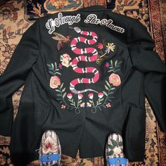 Gucci / @lallo24 - Alessandro Michele snapped a photo of one of Gucci's now-signature embroidered jackets.