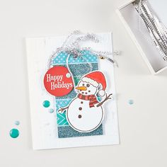 Winter Fred Stamp from Fun Stampers Journey | washi tape  handmade Christmas card | DIY holiday crafts