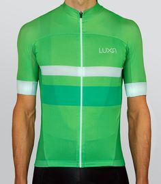 Green Night cycling jersey by Luxa.  Maximum simply and stylish green design.