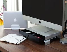 Drawer Monitor Stand by Just Mobile Specs:Dimensions : 14 x 10 x...
