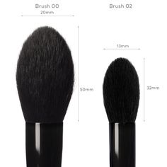 Review of 02 and Wayne Goss Brush 00/02 reference: Black | Beautylish. My review of brush #2 is this, simply stunning, flawless soft results, use it for stunning blush/contour highlight. Now Brush #00(next to order) you see is geared for an all over soft stunning finish with your loose powder, finishing, all over face work, any powder pressed or loose, These are exquisite! <3