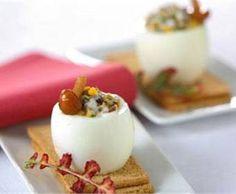 Receta de huevos rellenos de setas | Cantabria | Spain