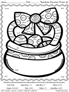Download This Freebie Color By Number From My Blog It