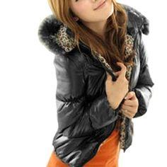 ac8c33225a83 Allegra K Ladies Long Sleeve Stand Collar Winter Fluffy Padded Hoodie Black  XS Allegra K. $24.53