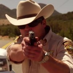 """""""Miss you Branch! Longmire Tv Series, Walt Longmire, Bailey Chase, Best Series, Movies And Tv Shows, Cowboy Hats, Movie Tv, Hot Guys, Eye Candy"""