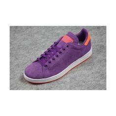 ADIDAS GRUN STAN SMITH 2 Purple/Orange Suede sz UK 10.5/US 11 G43715 found on Polyvore featuring polyvore