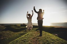 The kind of wedding I would love: cute but casual and spontaneous. (Wedding photos at Suomenlinna)