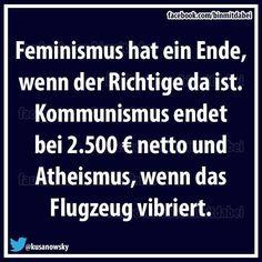 feminismus, atheismus, Kommunismus, Flugzeug