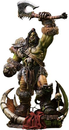 Grom Hellscream Version 2 Statue DAMTOYS is proud to announce the latest statue in the Legendary Pictures Warcraft movie, adaptation of the classic video game from Blizzard Entertainment – Grom Hellscream Premium Statue! Grom Hellscream, Garrosh Hellscream, Grommash Hellscream, Warcraft Orc, Warcraft Movie, Sideshow Toys, Sideshow Collectibles, Orc Warrior, Fantasy Warrior