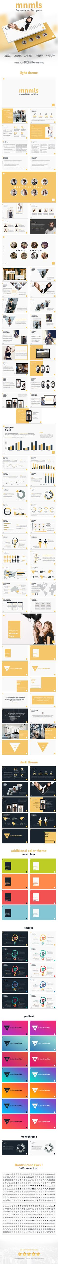 mnmls  Clean Creative Unique Powerpoint Template — Powerpoint PPTX #fashion #yellow • Download ➝ https://graphicriver.net/item/mnmls-clean-creative-unique-powerpoint-template/19649043?ref=pxcr