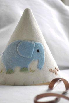 Felt Party Hat - Little Blue Elephant. $25.00, via Etsy.