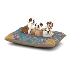 "Miranda Mol ""Prismatic Orange"" Orange Blue Abstract Dog Bed from KESS InHouse"