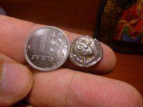 #Македония.Акантос Rar мегараспродажа - 5500 р. #  Редкая монетка серебро македония!Греция