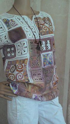"""Кофты и свитера ручной работы. Ярмарка Мастеров - ручная работа. Купить Туника хлопок """"Раскраска"""". Handmade. Туника хлопок"""